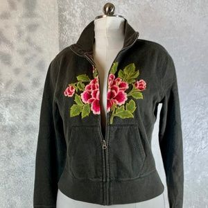 Lucky Brand Embroidered Crew Neck Sweatshirt Large